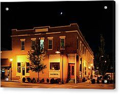 Old Hotel Moonlight Acrylic Print by Dale R Carlson