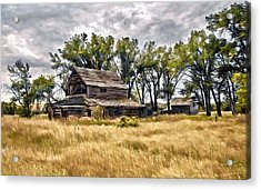 Old House And Barn Acrylic Print by James Steele