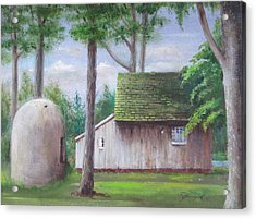 Acrylic Print featuring the painting Old House And Oven by Oz Freedgood