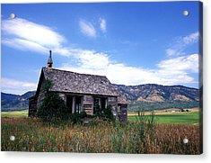 Old House In Idaho Acrylic Print by Kathy Yates