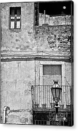 Old House In Taormina Sicily Acrylic Print by Silvia Ganora