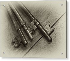 Old House Keys Acrylic Print by Wilma  Birdwell