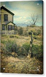 Acrylic Print featuring the photograph Old House Near Mountians by Jill Battaglia