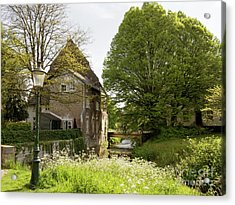 Old House On The Jeker River Maastricht Netherlands Acrylic Print