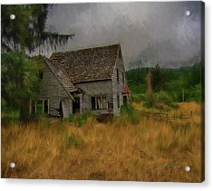 Old House On The Prairie Acrylic Print