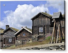 Old Houses In Roeros Acrylic Print