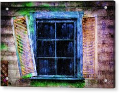 Old Huanted House Window Acrylic Print