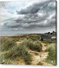 Old Hunstanton Beach, North #norfolk Acrylic Print by John Edwards