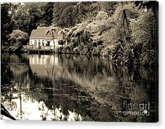 Acrylic Print featuring the photograph Old Hut By The Bush Lake by Yurix Sardinelly