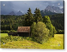 Acrylic Print featuring the photograph Old Hut In Austria by Yuri Santin