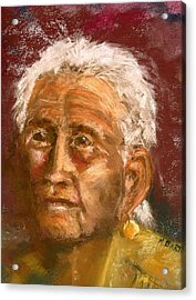 Acrylic Print featuring the pastel Old Indian by Marilyn Barton