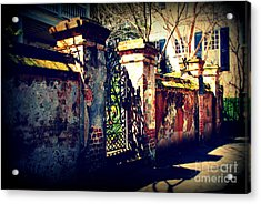 Old Iron Gate In Charleston Sc Acrylic Print