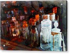 Old Jars Acrylic Print