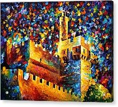 Old Jerusalem Acrylic Print by Leonid Afremov