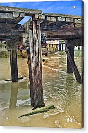 Old Jetty Acrylic Print by Jan Hattingh