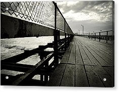 Old Jetty Acrylic Print by Kelly Jade King