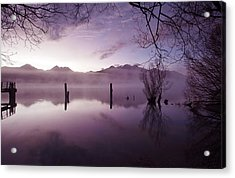 Acrylic Print featuring the photograph Old Jetty Remains Kinloch by Odille Esmonde-Morgan