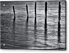 Acrylic Print featuring the photograph Old Jetty - S by Werner Padarin