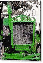 Old John Deere Tractor - Utah State Fair Acrylic Print by Steve Ohlsen