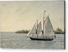Old Key West Sailing Acrylic Print