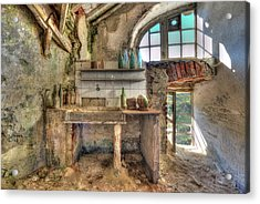 Acrylic Print featuring the photograph Old Kitchen - Vecchia Cucina by Enrico Pelos