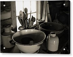 Acrylic Print featuring the photograph Old Kitchen Stuff by Joanne Coyle