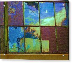Old Lace Factory Window Acrylic Print by Don Struke