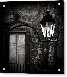 Old Lamp Acrylic Print by Dave Bowman