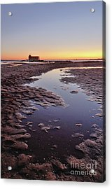Old Lifesavers Building At Twilight Acrylic Print by Angelo DeVal
