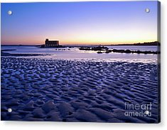 Old Lifesavers Building Covered By Twilights Blue Light Acrylic Print by Angelo DeVal