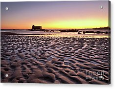 Old Lifesavers Building Covered By Warm Sunset Light Acrylic Print by Angelo DeVal
