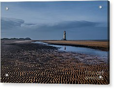 Old Lighthouse In Talacre  Acrylic Print