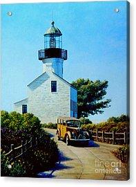 Old Lighthouse Point Loma Acrylic Print by Frank Dalton