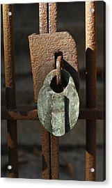 Old Lock Acrylic Print by David Houston