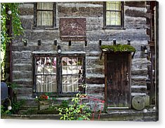 Old Log Building Acrylic Print