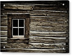 Acrylic Print featuring the photograph Old Log Cabin by Brad Allen Fine Art