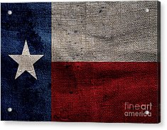 Old Lone Star Flag Acrylic Print by Jon Neidert