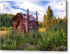 Old Lumber Mill Cabin Acrylic Print by James Eddy