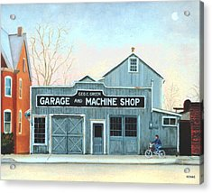 Old Machine Shop Acrylic Print by Robert Henne
