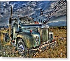 Old Mack Truck Acrylic Print by Peter Schumacher