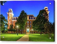 Old Main At Twilight - University Of Arkansas Acrylic Print