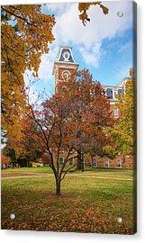 Old Main On The University Of Arkansas Campus - Autumn In Fayetteville Acrylic Print