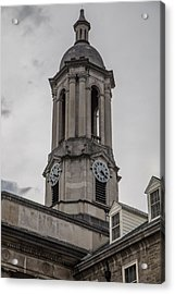 Old Main Penn State Clock  Acrylic Print by John McGraw