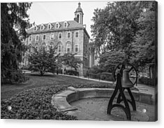 Old Main Penn State University  Acrylic Print by John McGraw