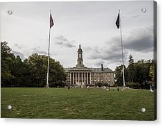 Old Main Penn State Wide Shot  Acrylic Print by John McGraw