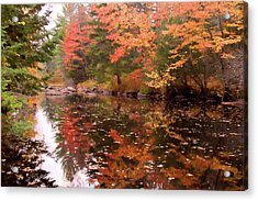 Acrylic Print featuring the photograph Old Main Road Stream by Jeff Folger