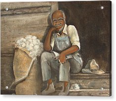 Old Man Cotton Acrylic Print by Charles Roy Smith