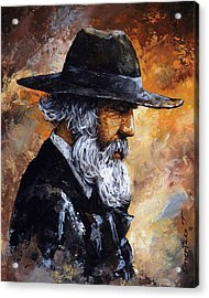 Old Man Acrylic Print by Emerico Imre Toth