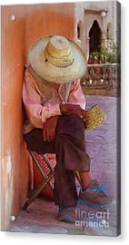 Old Man In Atottonilco Acrylic Print