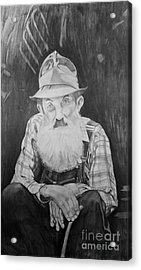 Popcorn Sutton Acrylic Print by Justin Arnold